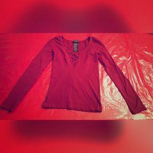 Tops - Bebe Criss Cross shirt